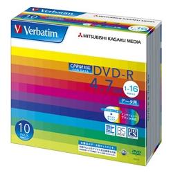 DVD-R 4.7GB CPRM PCデータ用 16倍速対応 10枚スリムケース入り ワイド印刷可能 DHR47JDP10V1(FMDI004877)
