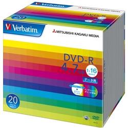 DVD-R 4.7GB PCデータ用 16倍速対応 20枚スリムケース入り ワイド印刷可能 DHR47JP20V1(FMDI004882)