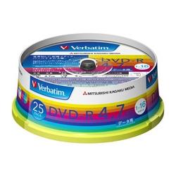 DVD-R 4.7GB PCデータ用 16倍速対応 25枚スピンドルケース入り ワイド印刷可能 DHR47JP25V1(FMDI004883)