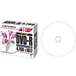 DVD-R 4.7GB PCデータ用 16倍速対応 1枚ずつ5mmケース(透明)10P ワイド印刷可能 DHR47JPP10(FMDI004884)