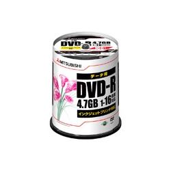 DVD-R 4.7GB PCデータ用 16倍速対応 100枚スピンドルケース入り ワイド印刷可能 DHR47JPP100(FMDI004885)