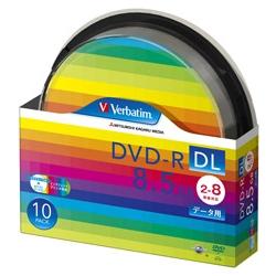 DVD-R DL 8.5GB PCデータ用 8倍速対応 10枚スピンドルケース入り ワイド印刷可能 DHR85HP10SV1(FMDI004887)
