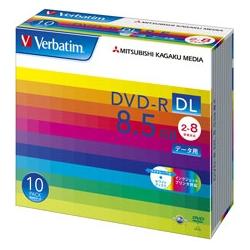 DVD-R DL 8.5GB PCデータ用 8倍速対応 10枚スリムケース入り ワイド印刷可能(FMDI001127)
