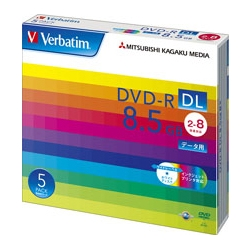 DVD-R DL 8.5GB PCデータ用 8倍速対応 5枚スリムケース入り ワイド印刷可能(FMDI001128)