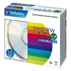 DVD-RW 4.7GB PCデータ用 4倍速対応 10枚スリムケース入り シルバーディスク(FMDI001129)