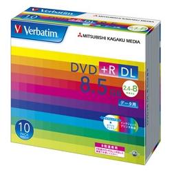 DVD+R DL 8.5GB PCデータ用 8倍速対応 10枚スリムケース入り ワイド印刷可能 DTR85HP10V1(FMDI004894)