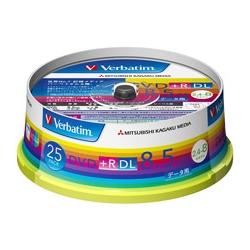 DVD+R DL 8.5GB PCデータ用 8倍速対応 25枚スピンドルケース入り ワイド印刷可能 DTR85HP25V1(FMDI004895)