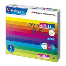DVD+R DL 8.5GB PCデータ用 8倍速対応 5枚スリムケース入り ワイド印刷可能(FMDI001121)
