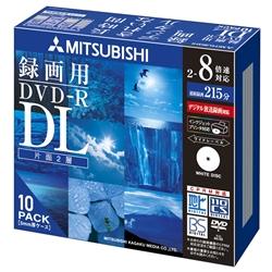 DVD-R DL 8.5GB ビデオ録画用 8倍速記録対応10枚スリムケース入インクジェットプリンタ対応 VHR21HDSP10(FMDI004901)