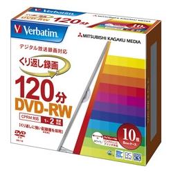 DVD-RW(CPRM) 録画用 120分 1-2倍速 5mmケース10枚パック ワイド印刷対応(FMDI001140)