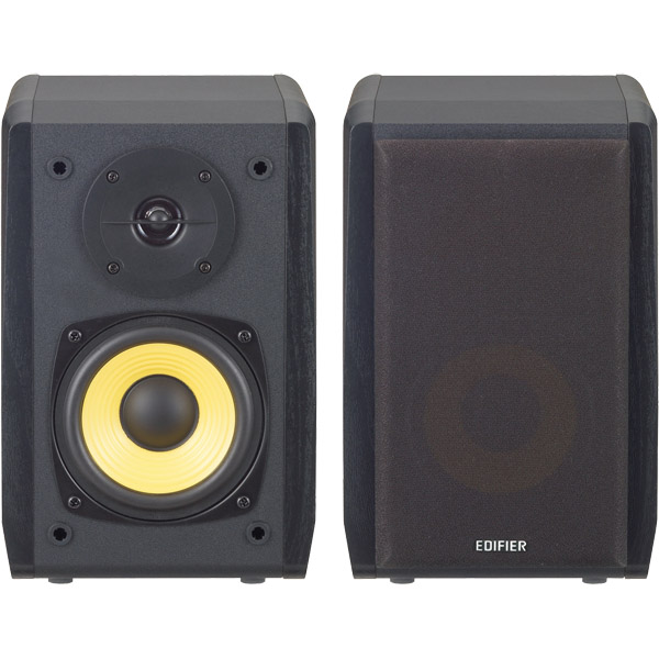 Bluetooth対応ブックシェルフ型マルチメディアスピーカー (ブラック) ED-R1010BT-BK(FMDI009318)