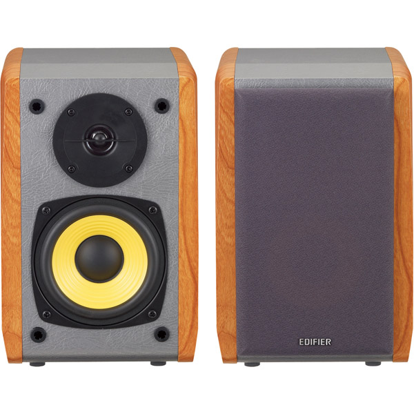 Bluetooth対応ブックシェルフ型マルチメディアスピーカー (ブラウン) ED-R1010BT-BR(FMDI009319)