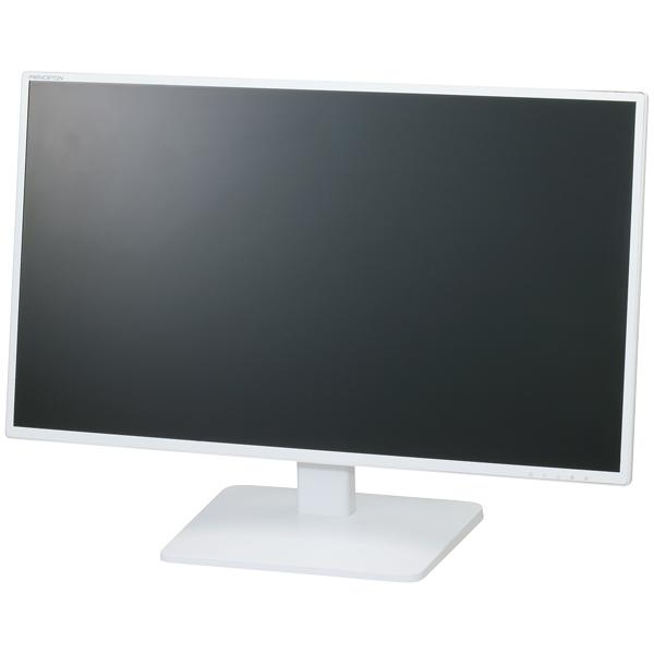 広視野角パネル採用 白色LEDバックライト 27型ワイドカラー液晶ディスプレイ (ホワイト) PTFWLT-27W(FMDI006173)