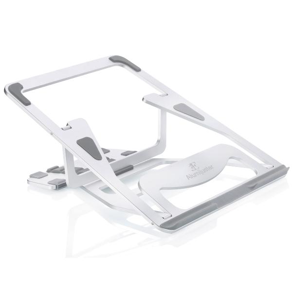 3E アルミ製折りたたみ式ノートPCスタンド【Alumijuster】 3E-DESKST6(FMDI014700)