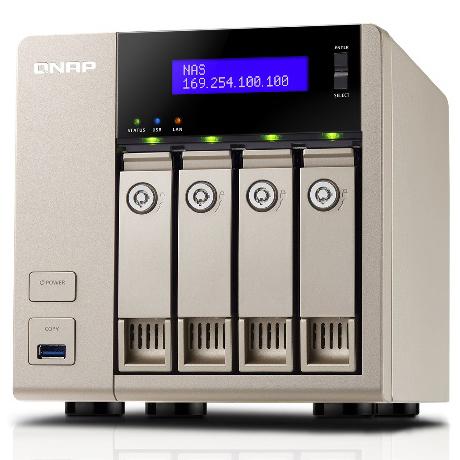 TurboNAS TVS-463 16TB HDD搭載モデル (WD ミドルクラス 4TB HDD x 4 搭載) TV4634MW40(FMDI007972)