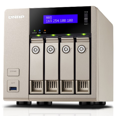 TurboNAS TVS-463 8TB HDD搭載モデル (ニアラインSATA 2TB HDD x 4 搭載) TV4634NL20(FMDI007975)