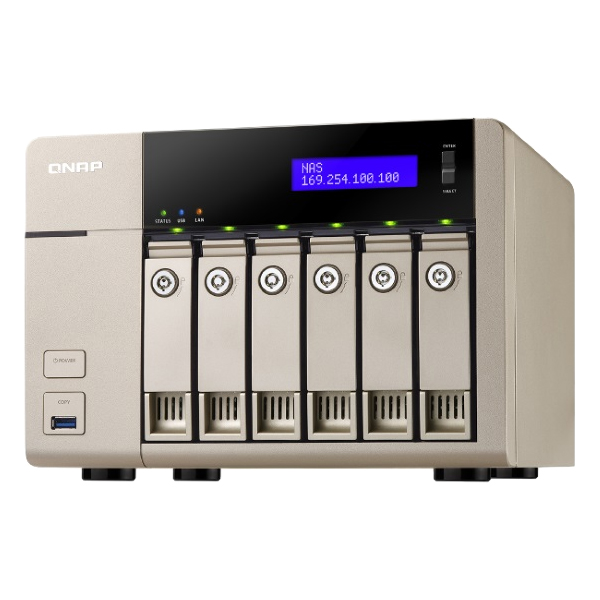 TurboNAS TVS-663 24TB HDD搭載モデル (WD ミドルクラス 4TB HDD x 6 搭載) TV6636MW40(FMDI007990)
