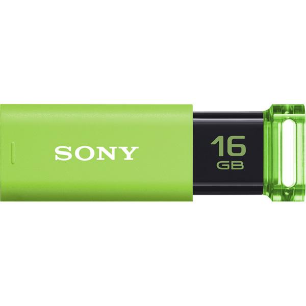 USB3.0対応 ノックスライド式USBメモリー ポケットビット 16GB グリーン キャップレス USM16GU G(FMDI010166)