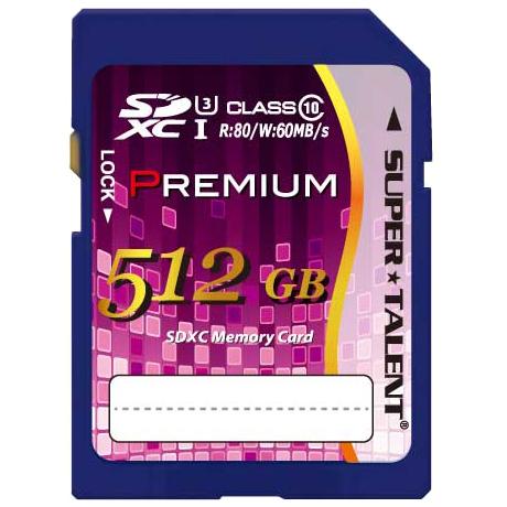 SUPER TALENT UHS-I SDXCメモリーカード 512GB Class10 ST12SU1P(FMDI013143)