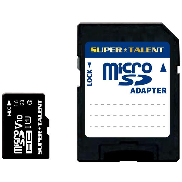 UHS-I3D MLC NAND採用 microSDHCメモリーカード 16GB Class10 変換アダプタ付 ST16MSU1PD(FMDI013360)