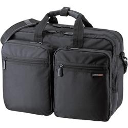 3WAYビジネスバッグ(15.6型ワイド・ダブル・出張用・ブラック) BAG-3WAY17BK(FMDI005459)