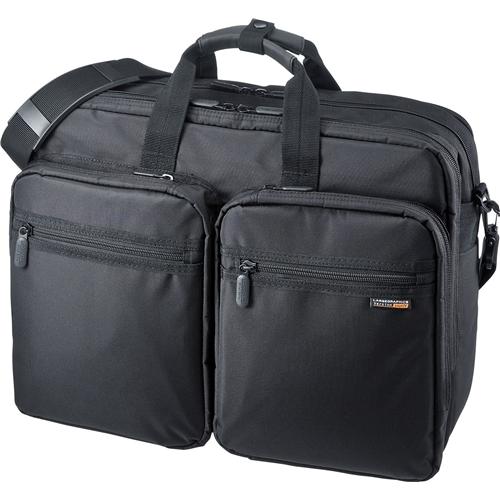 3WAYビジネスバッグ(15.6型ワイド・ダブル・出張用・ブラック・大型) BAG-3WAY19BK(FMDI005460)