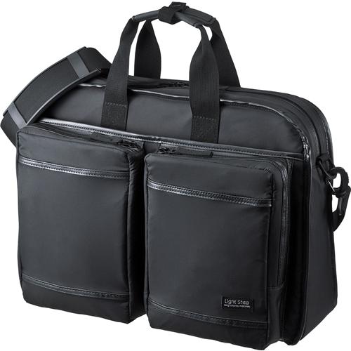 超撥水・軽量PCバッグ(3WAYタイプ・15.6インチワイド・シングル・ブラック) BAG-LW10BK(FMDI005478)