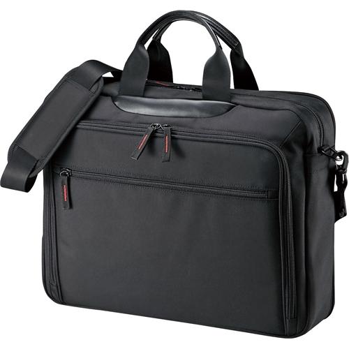 マチ拡張PCバッグ(15.6型ワイド対応・ブラック) BAG-W2BKN(FMDI005489)