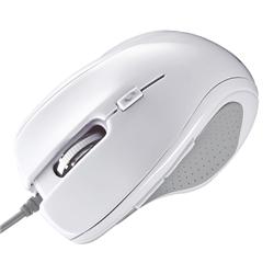 ブルーテック有線マウス(ホワイト) MA-117HW(FMDI008629)