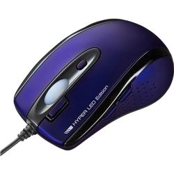 有線HYPER LEDマウス(ネイビー) MA-125HNV(FMDI008632)