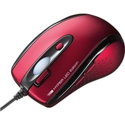 有線HYPER LEDマウス(レッド) MA-125HR(FMDI008633)
