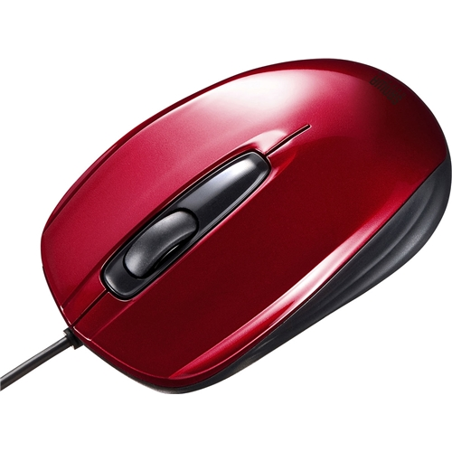 有線光学式マウス(レッド) MA-127HR(FMDI008635)