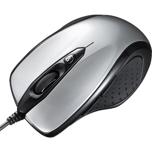 有線レーザーマウス(シルバー) MA-LS25S(FMDI008691)