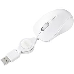 ケーブル巻取り光学式マウス(ホワイト) MA-MA6W(FMDI008697)