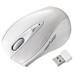 超小型レシーバーワイヤレスレーザーマウス(ホワイト) MA-NANOLS12W(FMDI008116)