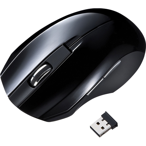 静音ワイヤレスブルーLEDマウス(ブラック) MA-WBL33BK(FMDI008128)