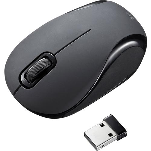静音ワイヤレスブルーLEDマウス(ブラック) MA-WBL36BK(FMDI008135)