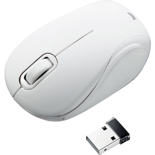 静音ワイヤレスブルーLEDマウス(ホワイト) MA-WBL36W(FMDI008137)