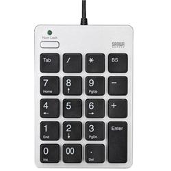 USB2.0ハブ付テンキー(シルバー) NT-18UH2SV(FMDI008734)