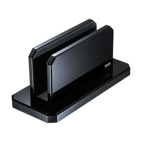 ノートパソコン用アクリルスタンド(縦置きタイプ) PDA-STN32BK(FMDI014712)