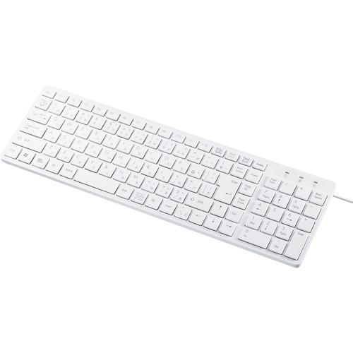 USBスリムキーボード(ホワイト・テンキー付き) SKB-SL26W(FMDI008249)