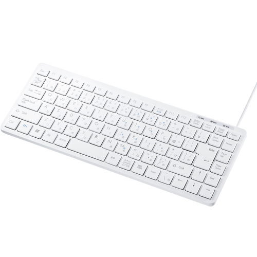 USBスリムキーボード(ホワイト・テンキーなし) SKB-SL27W(FMDI008251)