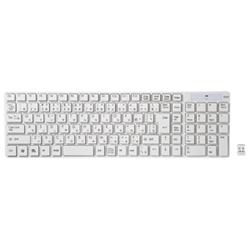 ワイヤレスキーボード(ホワイト) 専用USBレシーバー付 SKB-WL13W(FMDI005902)