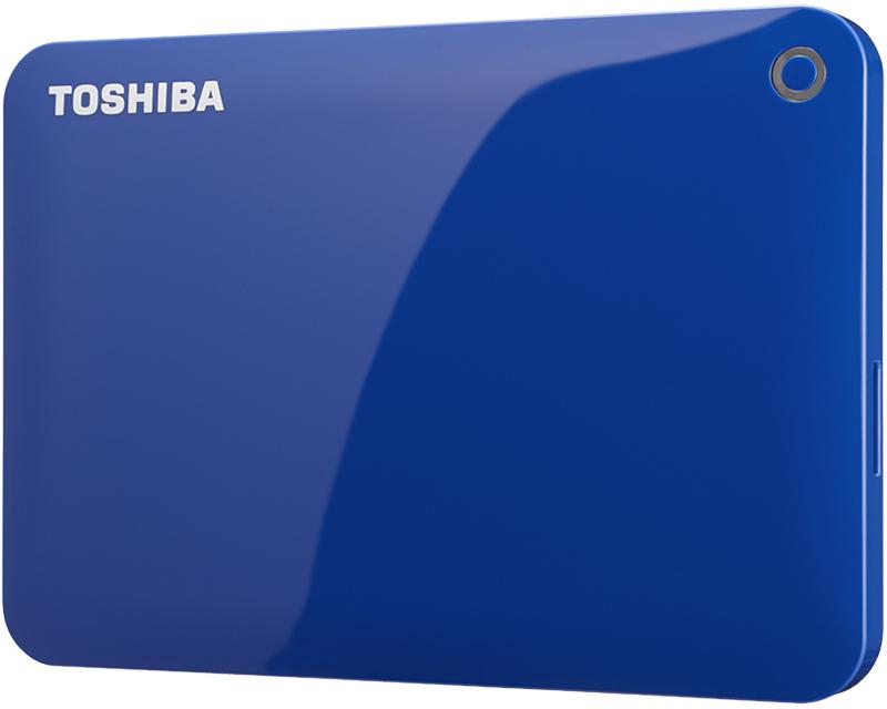 ポータブルハードディスク CANVIO CONNECT(HD-PEシリーズ) 1.0TB ブルー HD-PE10TB(FMDI005177)