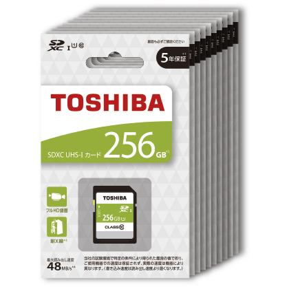 SDXC UHS-I メモリカード 256GB 10枚パック SDBR48N256GX10P(FMDI013152)