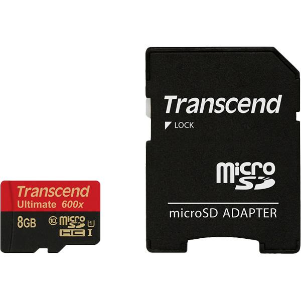 8GB microSDHCカード Class 10 UHS-I 600x TS8GUSDHC10U1(FMDI013435)