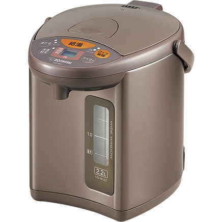 マイコン沸とう電動ポット 2.2L メタリックブラウン デジタル液晶 CD-WU22 TM(FMDI006525)