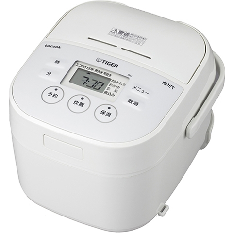 マイコン炊飯ジャー <炊きたて> tacook 3合炊き ホワイト JBU-A551W(FMDI006625)